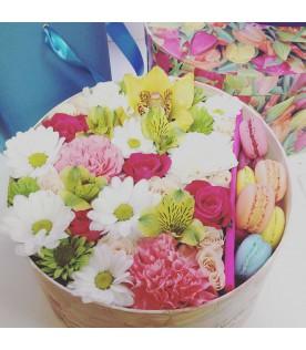 Коробочка с цветами размера L №20